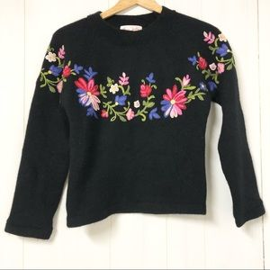 Vintage Rene Derhy Floral Embroidered Sweater